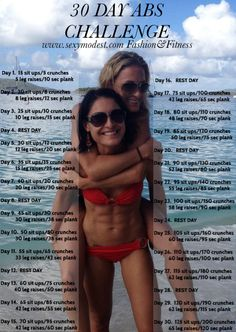 Repin and share for perfect summer abs! www.sexymodest.com Fashion&Fitness