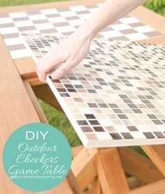 DIY Flip-able Checker Game and Dining Table #DIY #buildit #homedepot #table