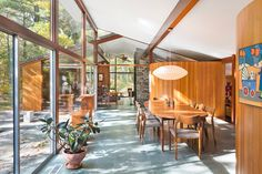"""Henry Hoover was the original architect of this stunning mid century home built in 1958. """"Sculpted to the Land"""" is the project title for the restoration of this home by Flavin Architects. Sculpted to"""
