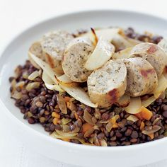 Lentils with Chicken Sausage | Food & Wine