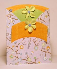 Trifold Double Pocket Card by Deena Perreault