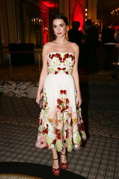 Bee Shaffer in Dolce&Gabbana at the Save Venice Ball 2016 on April 15, 2016