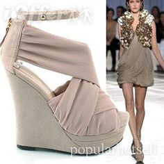 European-american new women's wedge heels sandals shoes
