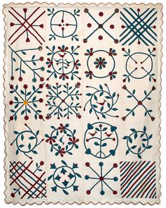 c. 1870 quilt, collection of Bill Volckening | Wonkyworld: Airing of the Quilts