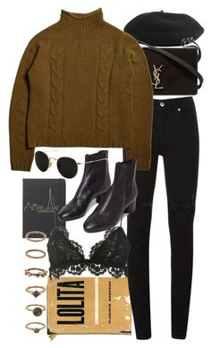 """""""Untitled #10069"""" by nikka-phillips ❤ liked on Polyvore featuring Yves Saint Laurent, McQ by Alexander McQueen, Isabel Marant, Ray-Ban and Forever 21"""