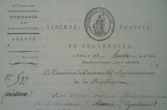 Liberté, égalité et fraternité. #Revolution #FrenchRevolution #oldpapers #entete #archives