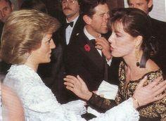November 9, 1988 - Caroline dinner with Prince Charles and Diana