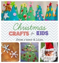 xmas crafts Collage 2 by bear & lion mama, via Flickr