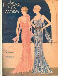 NUMULITE 0959 El hogar y la moda 1931 tomo 2 Anuncios vestidos de campo sombrero pijamas modelos - Foto 1
