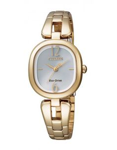 WATCH CITIZEN ECO DRIVE OVAL DIAL GOLD PLATED CASE   BRACELET 50M - Jons  Family Jewellers 8a2209d4ad