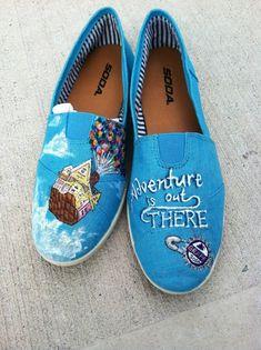 Disney/Pixar's UP Custom hand painted acrylic canvas Shoes