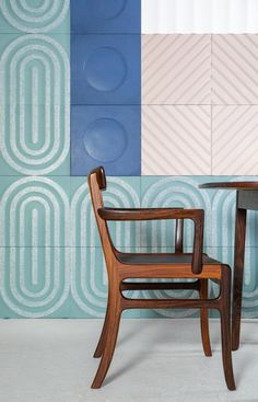 KAZA Concrete Releases a Bauhaus-Inspired Tile Collection by Aimee Munro - Design Milk French Country Interiors, Country Interior Design, Room Interior Design, Interior Design Inspiration, Design Ideas, Bauhaus Colors, Bauhaus Architecture, Mosaic Wallpaper, Design Competitions