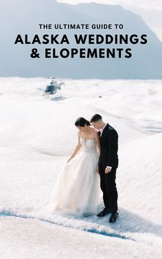 Outland Events shares their advice for adventurous couples dreaming of their wedding in Alaska's mountains, glaciers & rugged coast. Find the best destinations, epic elopement ideas, what to wear & all the logistics to eloping or getting married in Alaska. Outland Events will plan, design, coordinate & photograph your Alaskan wedding adventure. Photo by Corinne Graves of Outland Events.