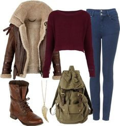 Perrie inspired outfit for a cold day at school by littlemix-style featuring mid calf lace up boots