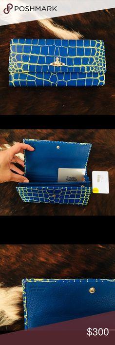 Vivienne Westwood wallet Brand new Viviene Westwood neon blue wallet! Vivienne Westwood Bags Wallets