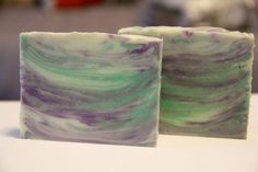 1 Lb. Palm Free Cold Process Soap Recipe for Lavender Mint Aloe Vera Soap with an In the Pot Swirl