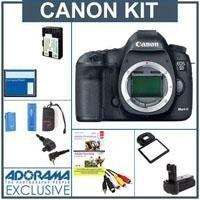 Canon EOS-5D Mark III Digital SLR Camera Body, 22.3 Megapixels, USA Warranty - Bundle - with Flashpoint Battery Grip, Wireless Remote Shutter Trigger Set, 2-Connecting Cords, Canon STV-250N Stereo Video Cable, Power200 Replacement Battery, Sandisk 8GB CF Card, MemoryCard Wallet, & Screen Protector by Canon. $3499.00. Canon EOS 5D Mark III Pro HDSLR the Long-awaited successor to groundbreaking Canon 5D Mark II  The Canon EOS 5D Mark III is an HDSLR designed to b...