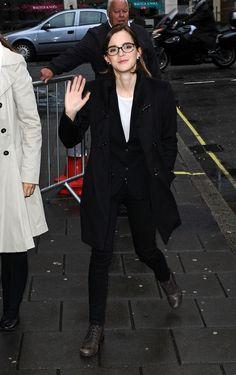 Emma Watson at BBC Radio 1 in London, September 26th.