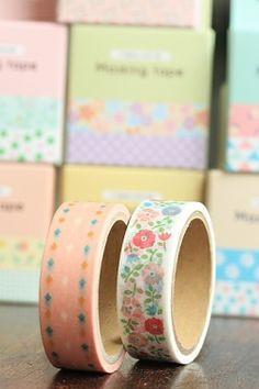 Cute Washi Masking Tape Set - Floral Mood