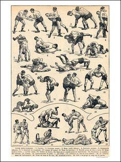 VP13427-02 - Greco Roman Wrestling 1920s (30x40cm Art Print)