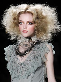 Very detailed and Victorian vintage modern look off one of John Galliano's collection