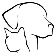 List Of Top Simple Dog Outline Tattoo Images | Dog Outline Tattoo ...
