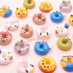 Resin Charms  Kawaii Doughnuts Cabochon  12 by SophieToffeeCo