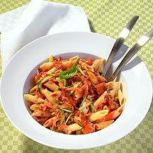 Weight watchers - Pasta met tomaten-kaassaus – 9pt