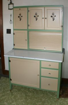 Hoosier Saw one of these at a Garage Sale. I wanted it. $275.00. Hubby said no! I am still crying over it, lol (j/k)