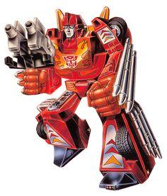 Hot Rod (Targetmaster) G1 toy box art.