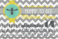 Mommy to Bee Baby Shower Invite by andsheprintedhappily on Etsy