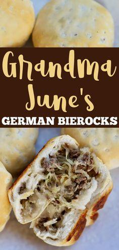 Recipe Steps, Hamburger Recipes, Beef Recipes, Cooking Recipes, German Bierocks Recipe, Sunday Dinner Recipes, Dinner Ideas, Oktoberfest