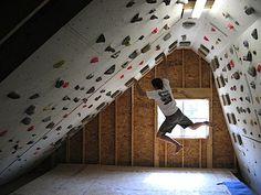 attic climbing wall