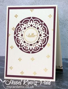 Made with Stampin' Up Eastern Palace Suite, which contains, Eastern Beauty stamp set and Eastern Medallions die set.