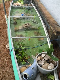 Canoe pond Canoe pond Related posts: 14 Awesome Ideas How to Build Backyard Pond Landscaping How to Build a Pond and Waterfall Stunning Garden Pond Waterfall Design Ideas – Backyard Water Garden How To Build A Garden Waterfall Pond Indoor Water Garden, Indoor Water Fountains, Indoor Pond, Garden Pond, Small Water Gardens, Indoor Gardening, Fish Tank Garden, Fish Pond Gardens, Backyard Water Feature