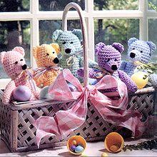 Springtime Bears Crochet Pattern ePattern $2.99 (pattern in my folder)