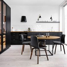 #kitchen #blackkitchen   10 Beautiful Rooms - Mad About The House