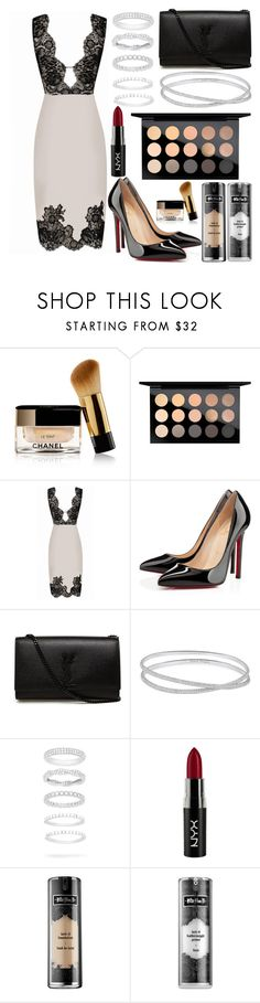"""290."" by plaraa on Polyvore featuring Chanel, MAC Cosmetics, Agent Provocateur, Christian Louboutin, Yves Saint Laurent, Maison Margiela, Belk Silverworks, NYX and Kat Von D"