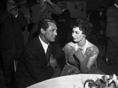 Actress Sophia Loren with actor Cary Grant