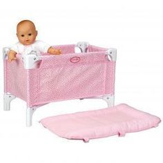 "Corolle Doll Bed and Changing Table V5785 Fits upto 17"" doll"
