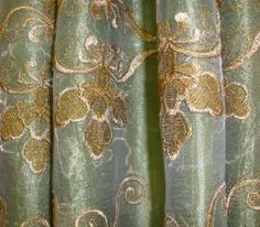 Amazon.com - Melanie Embroidered Curtains, 55 Inches Wide x 84 Inches Long Curtain, Sage Green