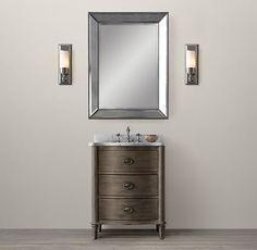 Empire Rosette Powder Room Vanity Sink