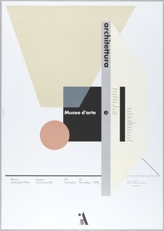 Poster, Museo d'Arte e Archittectura, 1992   hqyx   Visits   Collection of Cooper Hewitt, Smithsonian Design Museum