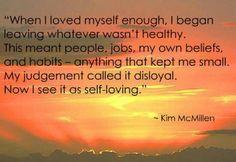 My judgement of myself...