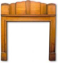 Art Deco 1934 fireplace mantel
