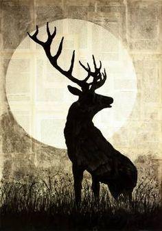 """Saatchi Art Artist Krzyzanowski Art; Painting, """"The spirit of forest"""" #art"""
