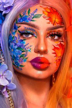 Face Paint Makeup, Makeup Art, Beauty Makeup, Eye Makeup, Flower Makeup, Fairy Makeup, Makeup Inspo, Makeup Ideas, Makeup Tips