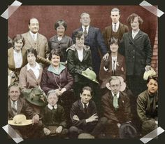 """Cary with the group """"Bob Pender Stage Troupe"""" Sitting in the bottom row far right."""