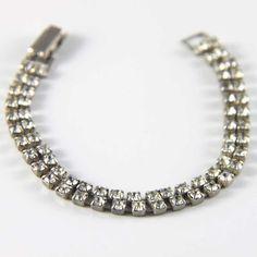 Double row rhinestone 1950s bracelet from LuluandBelle. Available @ www.luluandbelle.com for €49.