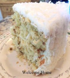 butter pecan cake with coconut frosting